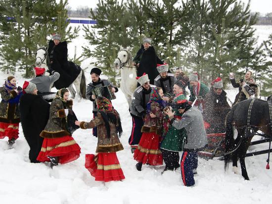 Как кубанские казаки Рождество праздновали
