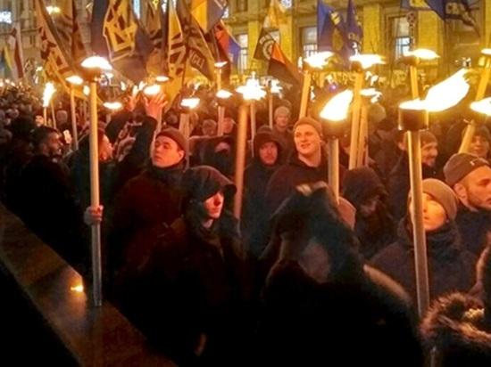 Шествие, посвященное дню рождения Бандеры, завершилось в Киеве