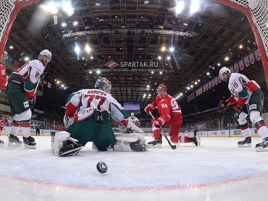 «Ак Барс» обыграл «Спартак» 3:2 и вновь лидирует на «Востоке» КХЛ
