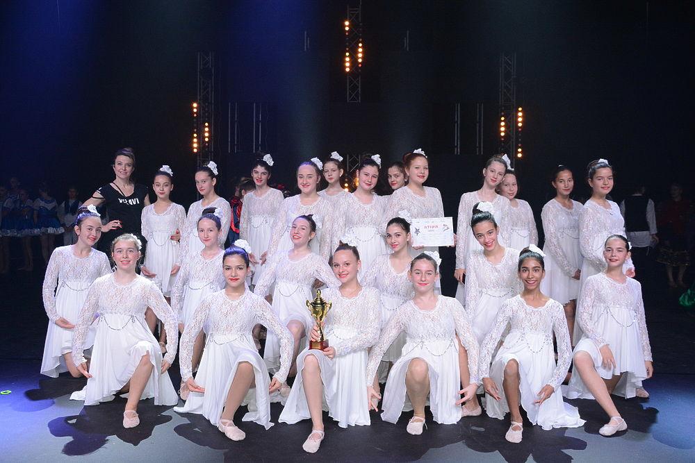 """Команда школы танцев """"Визави"""" стала чемпионом всеизраильского конкурса"""