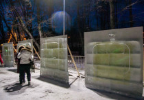 В Москве установят волшебные ледяные телевизоры
