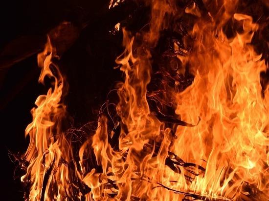 Причиной пожара стала оставленная без присмотра печь