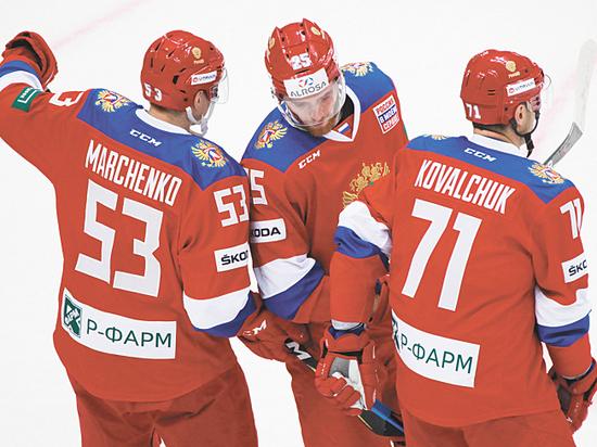 Матч хоккейной сборной России со