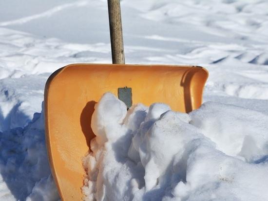 Родителям пришлось самим откапывать школу после снегопада