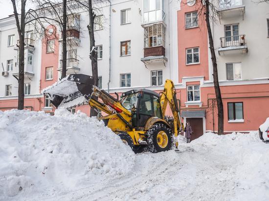 Снежный плен в центре города
