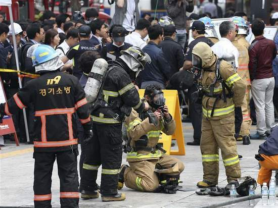 Возле Олимпийской деревни в Южной Корее вспыхнул сильный пожар