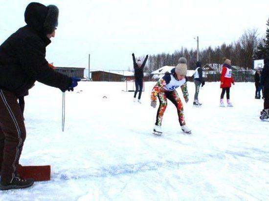 На ледовой арене под Костромой определились победители в конькобежном спорте