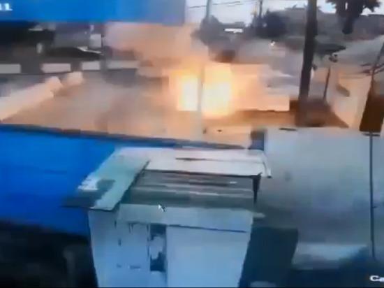 Случайный самоподрыв террориста в Ираке попал на видео