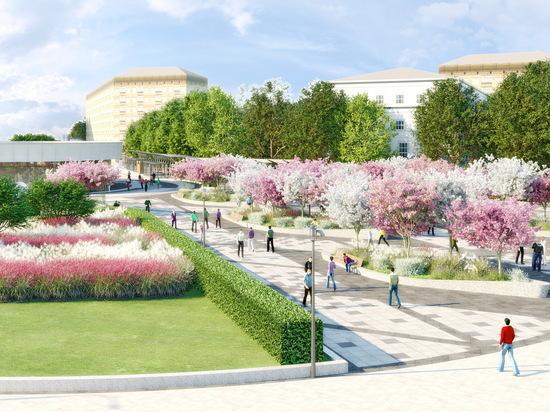 Площадь у метро «Улица 1905 года» станет похожа на маленький парк