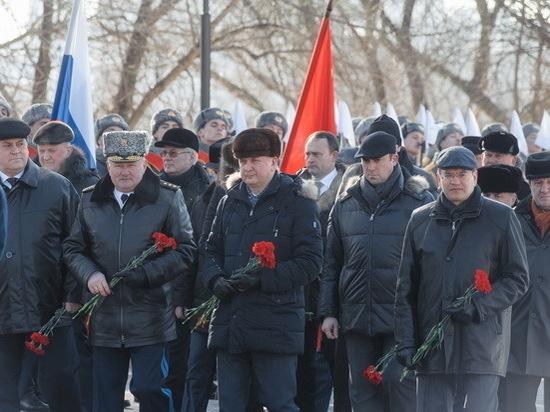 Глава региона принял участие в торжествах по случаю Дня защитника Отечества