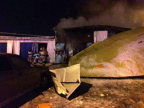 Газовое оборудование на автомобиле «Газель» взорвалось ночью в Набережных Челнах