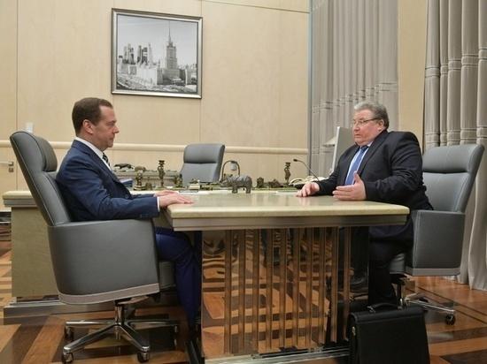 Глава Мордовии Владимир Волков встретился с Дмитрием Медведевым