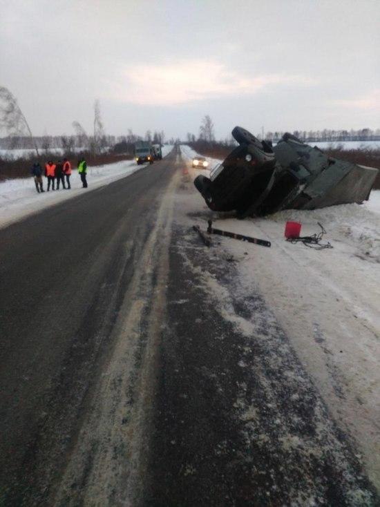 На трассе в Моршанском районе перевернулся грузовик