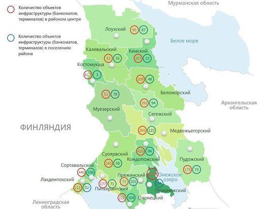 В Карелии запущена интерактивная карта банковских услуг