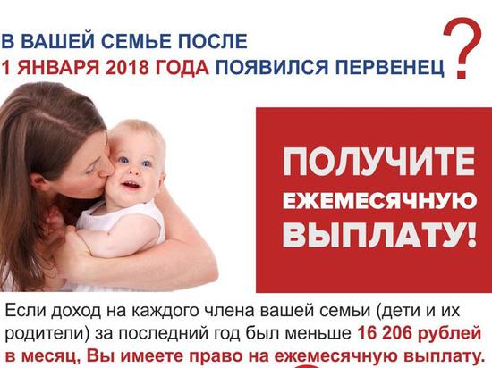 В Пермском крае начались выплаты на первенцев, рожденных в 2018 году