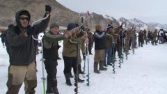 В городе Ак-Довурак подвели итоги соревнований по подледной рыбалке