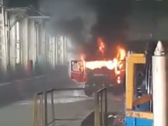 В цехе завода двигателей КАМАЗа произошел пожар