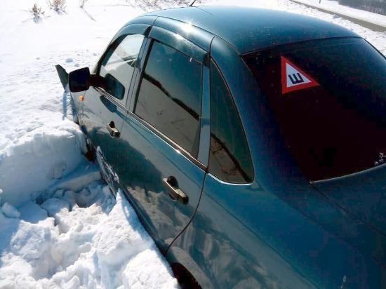 В Похвистневском районе водителю «Гранты» стало плохо, машина съехала в кювет