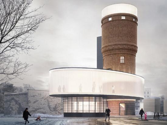 Киноэкран и площадка для танцев: необычный проект реконструкции водонапорной башни