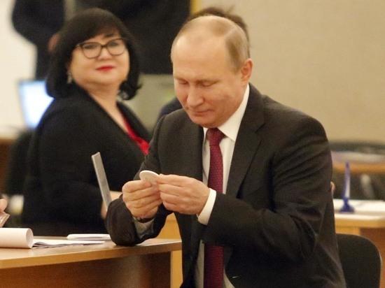 Путина для голосования на выборах президента обеспечили особой западной ручкой