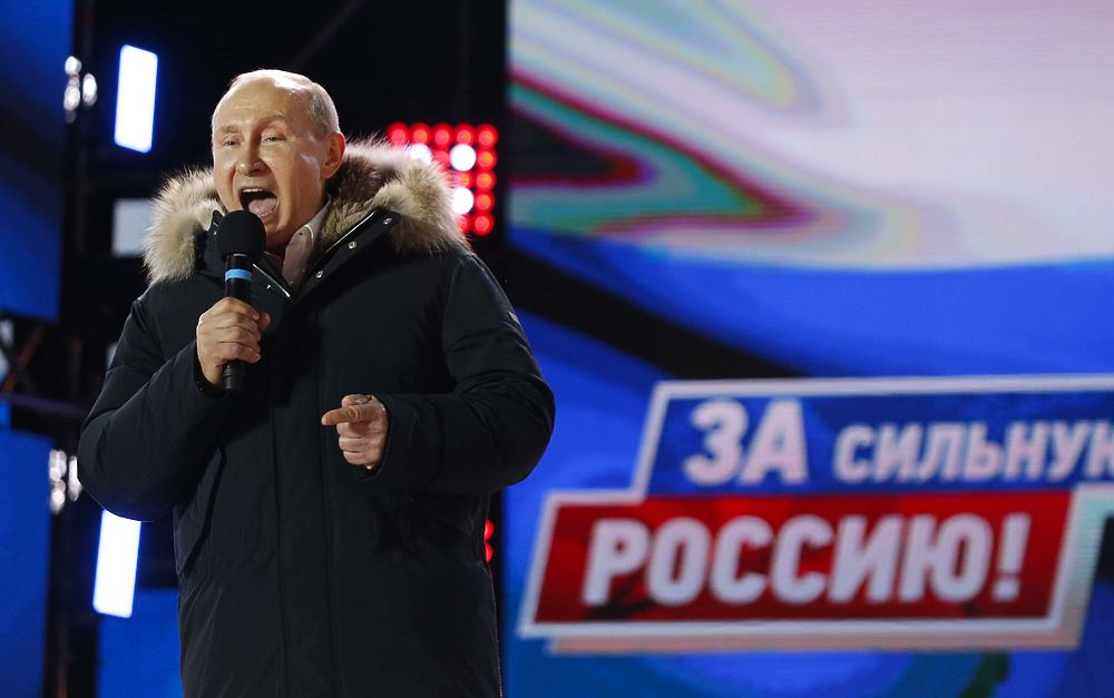 Ночная Москва услышала крик Путина: президент на концерте поблагодарил сторонников