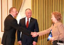 Додон поблагодарил Алиева за строительство культурно-образовательного центра в Чадыр-Лунге