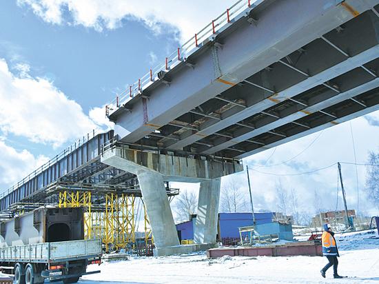 Мост через Волгу в Дубне: есть последняя опора!
