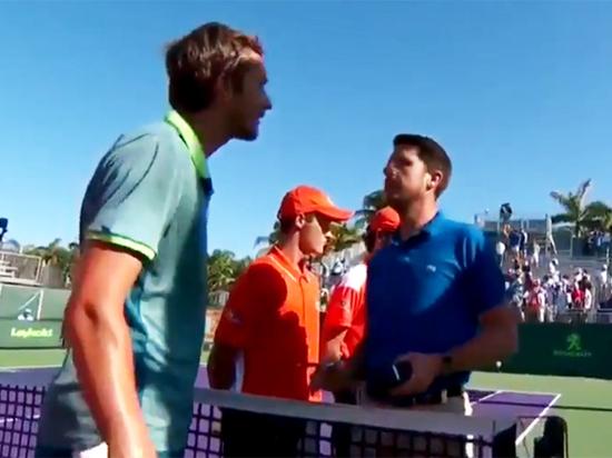 Теннисист Медведев едва не подрался с соперником после оскорблений