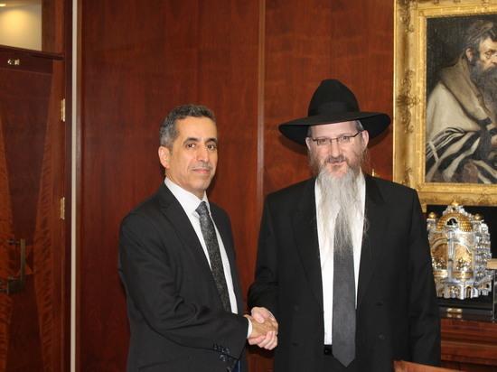 Раввин Берл Лазар встретился с председателем Международного Центра Межконфессионального Диалога в Дохе