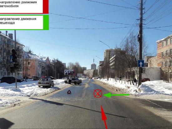 Бестолковый молодой водитель покалечил сверстника на пешеходном переходе в центре Архангельска