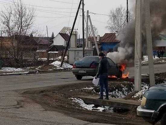 В Тайшете на ходу загорелась «Хонда»
