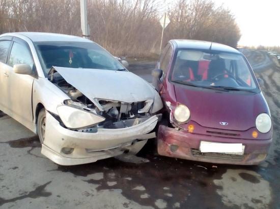 В Моршанске столкнулись две иномарки: пострадал подросток