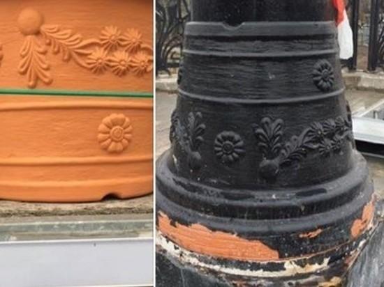 В Калининграде мост отремонтировали замаскированными цветочными горшками