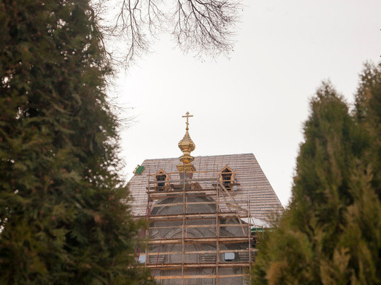 На строящееся здание семинарии в центре Тамбова возвели купол