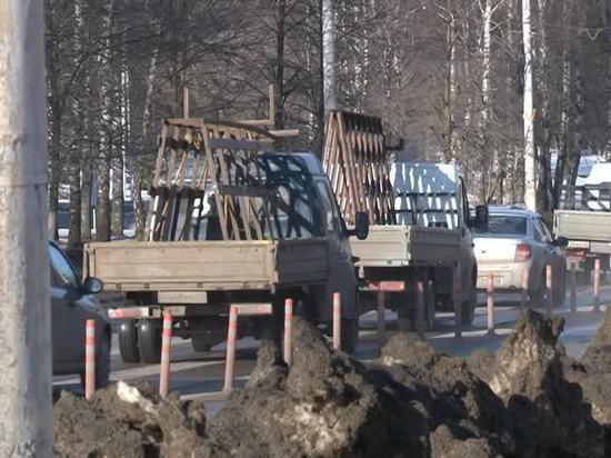 В Костроме появились делиниаторы и дополнительные камеры фиксации нарушений ПДД