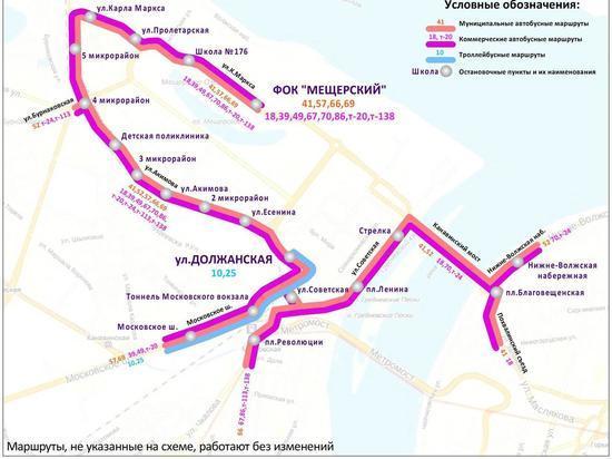 Автобусы сократят маршруты из-за матча на «Стадионе Нижний Новгород»