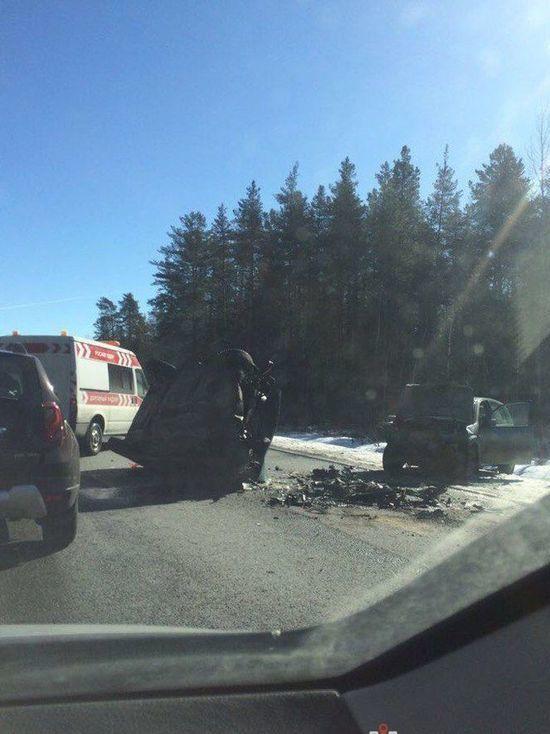 Один человек пострадал в ДТП на трассе Кола