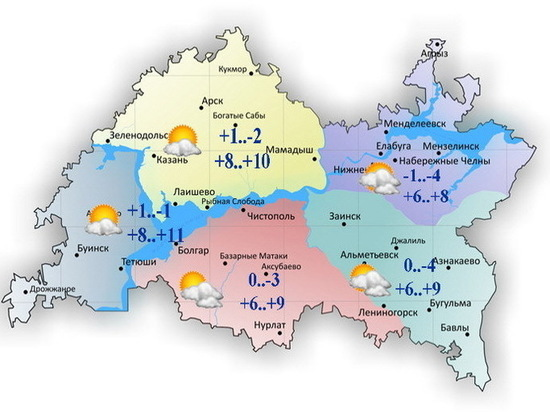 В Татарстане 9 апреля будет облачно и тепло