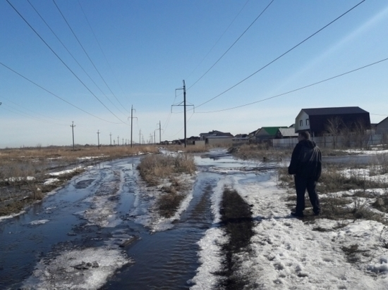 В Ульяновске паводковыми водами затопило около 40 приусадебных участков