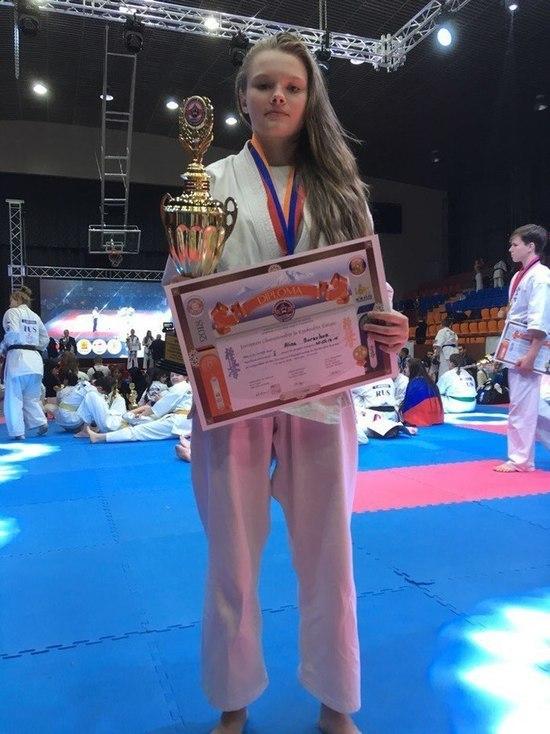 Тамбовчанка стала серебряной призеркой Первенства Европы по кекусинкай карате