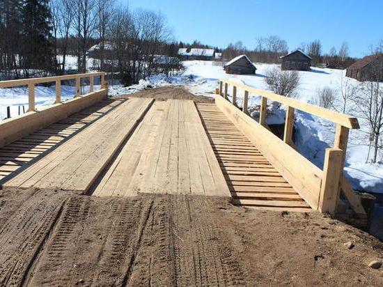 Под Костромой отремонтировали мост через Ножигу