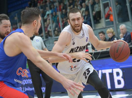Баскетбольный клуб «Нижний Новгород» дома проиграл ЦСКА