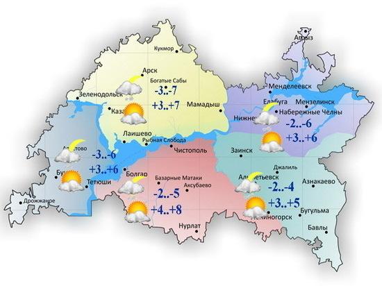 Тепло и без осадков будет сегодня в Татарстане