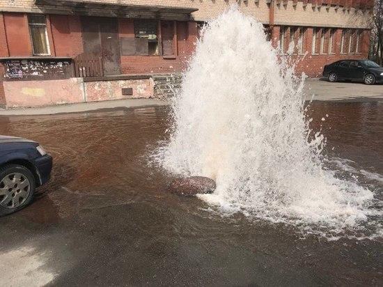 Вода из канализации затопила двор в Купчине