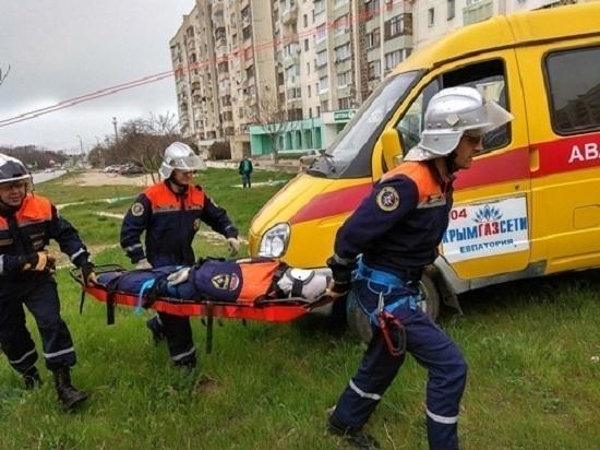 В Евпатории ликвидировали ЧС, вызванную взрывом газа