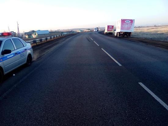 На трассе Оренбуг-Самара «КАМАЗ» насмерть сбил пешехода