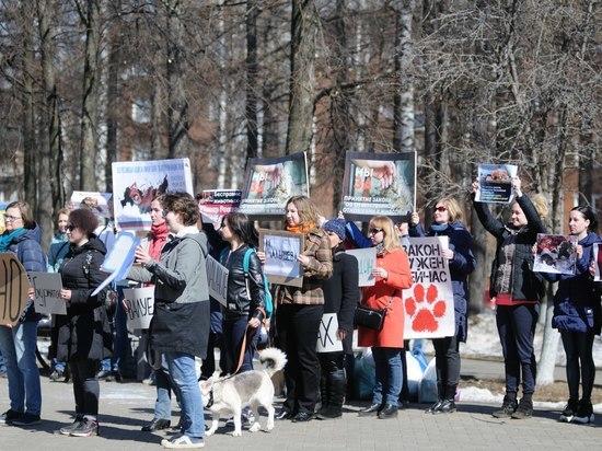 В Ижевске прошел митинг за принятие закона об ответственном обращении с животными