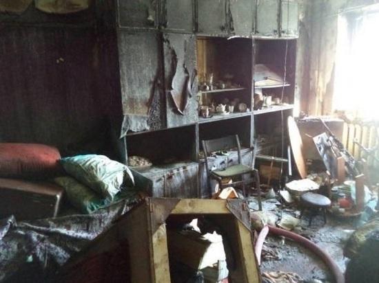 Бабушка погибла, спасая внуков от огня при пожаре в Архангельской области