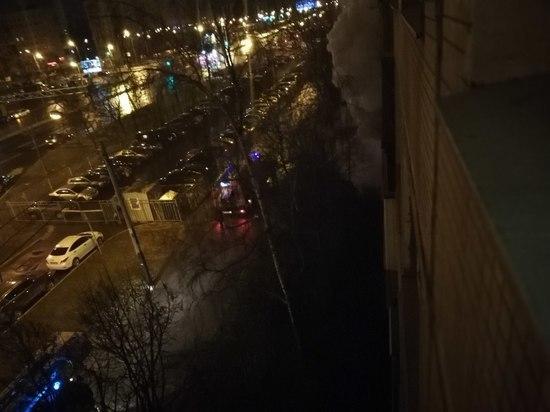 Сгорела квартира на Дунайском проспекте