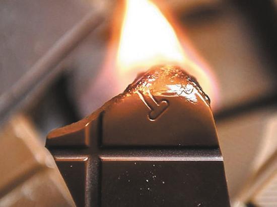 Может ли шоколад гореть